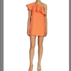 Alice + Olivia Tangerine Ruffle Dress